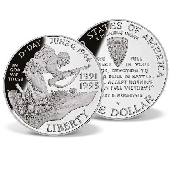 World War II - D-day 50th Anniversary Silver Dollar US_2715870_1
