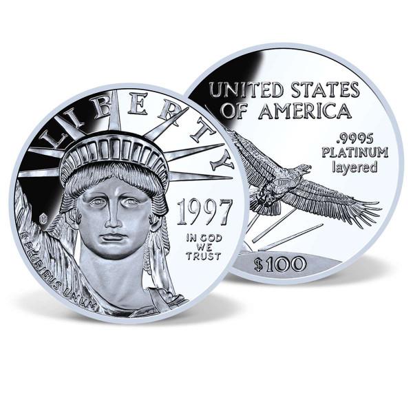 1997 $100 Platinum Eagle Replica US_9175150_1