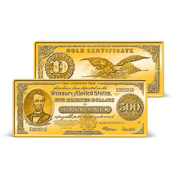 1922 $500 Gold Certificate Ingot US_9171360_1