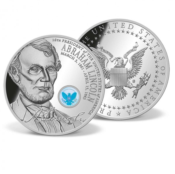 Abraham Lincoln Official Presidential Hologram Commemorative Coin US_1701701_1