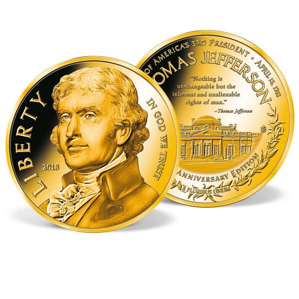 Thomas Jefferson 275th Anniversary Edition Commemorative Coin US_9175675_1