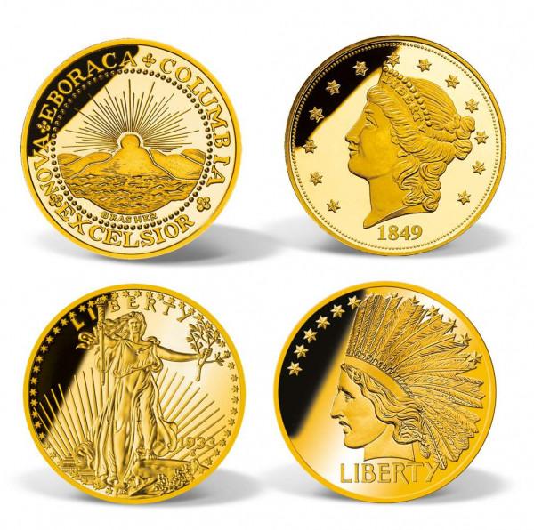 4-coin $50 Million Gold Coin Replica Set US_8200997_1