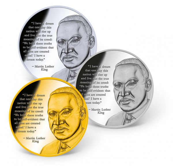 Dr. Martin Luther King, Jr. Precious Metal Coin Set US_9175088_1