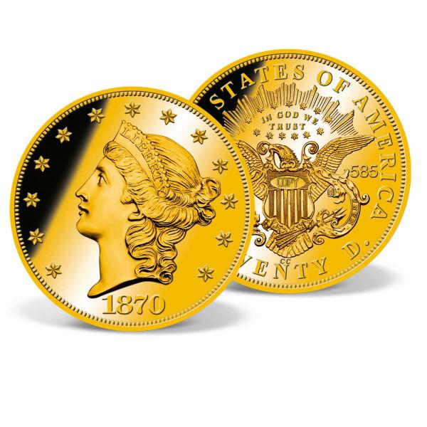1870-CC Gold Double Eagle Replica Coin US_9173861_1