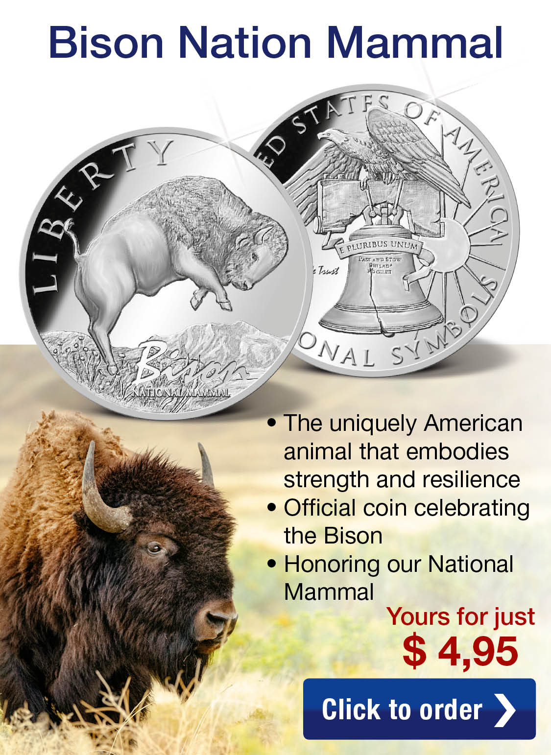 Bison – National Mammal Commemorative Coin
