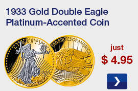 1933 Gold Double Eagle Platinum-Accented Coin